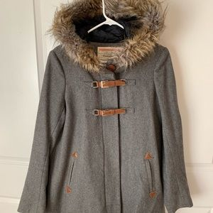 Cartonnier Anthropologie Gray Wool Pea Coat